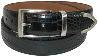 PGA Men's Croco Print Leather Belt