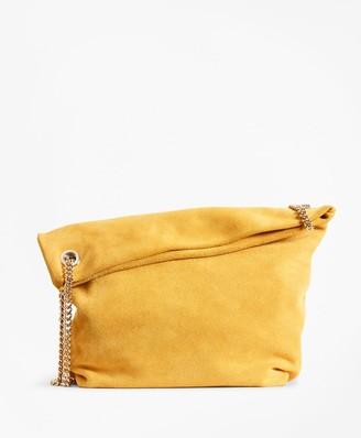 Brooks Brothers Suede Convertible Shoulder Bag