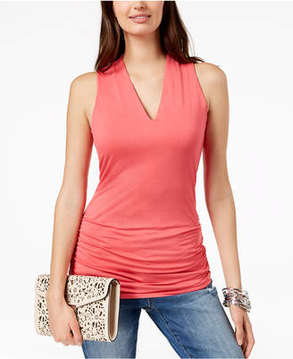 INC International Concepts I.n.c. Ruched V-Neck Top, Created for Macy's