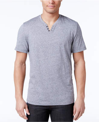 Alfani Men's Stretch Solid Slim-Fit, Henley T-Shirt