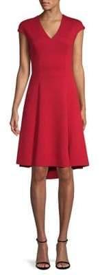 Elie Tahari Moriah Cap Sleeve Dress