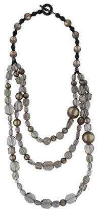 Emporio Armani Crystal Multistrand Bead Necklace