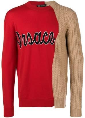 Versace cursive logo demi sweater