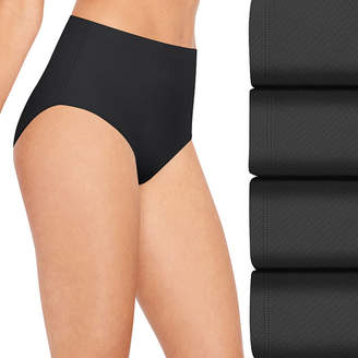 Hanes Ultra Light Breathable 4 Pair Jersey Brief Panty 40ulbf
