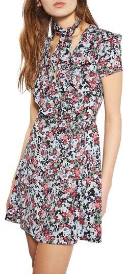 TopshopWomen's Topshop Sky Floral Wrap Dress
