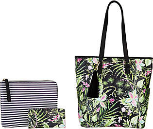 Dena North/South Shopper with Pouch and Wallet