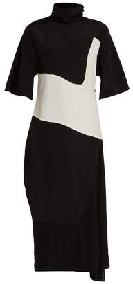 Acne Studios Dilona high-neck contrast-panel dress