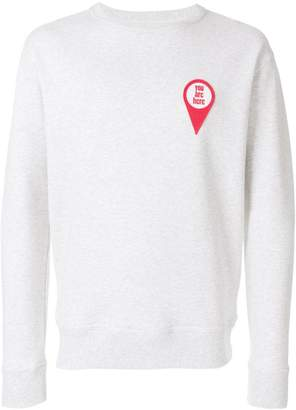 Ami Alexandre Mattiussi crewneck sweatshirt red patch you are here