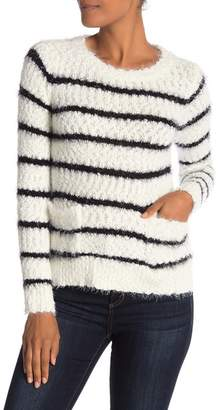 Love by Design Striped Eyelash Pullover