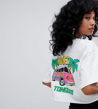 Camper Crooked Tongues cropped t-shirt with van print