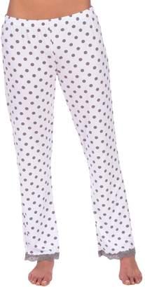 Body Candy Loungewear Women's Lightweight Silky Soft Pajama Sleep Pants with Drawstring (, L)