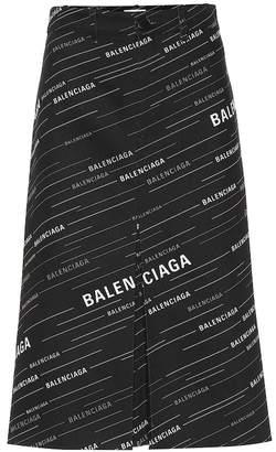 Balenciaga Printed cotton midi skirt