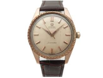 Omega Vintage Seamaster Brown Pink gold Watches