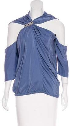 Yigal Azrouel Silk Asymmetrical Top