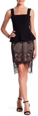 KENDALL + KYLIE Kendall & Kylie Scallop Lace Pencil Skirt