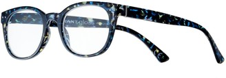 Foster Grant Women's Modera by Kinsley Blue Leopard Square Reading Glasses