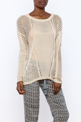 Monoreno Open Weave Knit Sweater $42 thestylecure.com