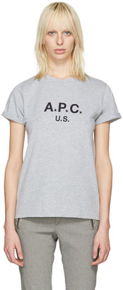 A.P.C. Grey US Logo T-Shirt $85 thestylecure.com