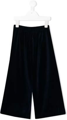 Il Gufo velvet capri trousers