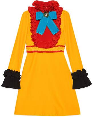 Velvet and silk ruffle dress $5,100 thestylecure.com