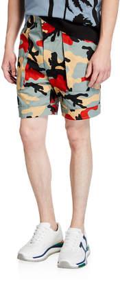 Valentino Men's Camo-Print Cuffed Shorts