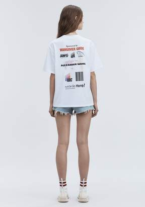 Alexander Wang SPONSORED SHORT SLEEVE TEE TOP