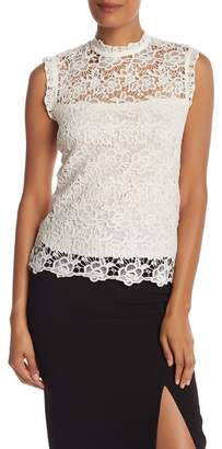 Nanette Lepore NANETTE Mock Neck Lace Top