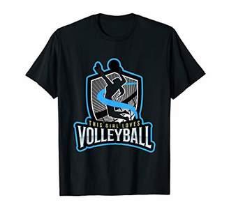 Girl Loves Volleyball Shirt | Net Spike Gift Design T-Shirt