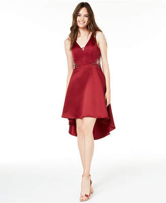 City Studios Juniors' Embellished High-Low Dress