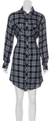 Rails Plaid Knee-Length Long Sleeve Dress