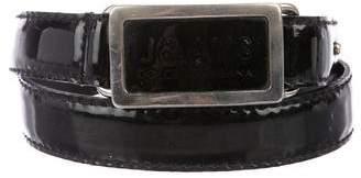 Dolce & Gabbana Patent Leather Hook Belt