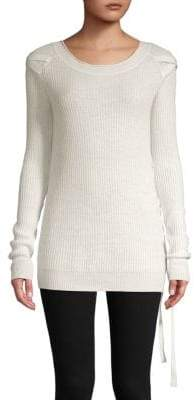 Side Lace-Up Cashmere Sweater