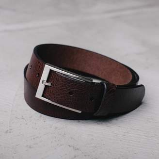 DSTLD Mens Thin Leather Belt in Brown