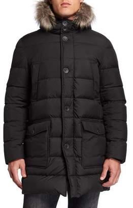 Herno Men's Millionaire Parka Coat w/ Fur Trim