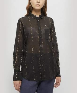 Pas De Calais Spot Splatter Sheer Shirt