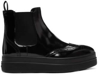 Prada Black Platform Boots