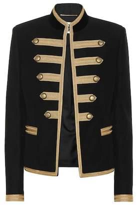 Saint Laurent Embroidered cotton-twill jacket