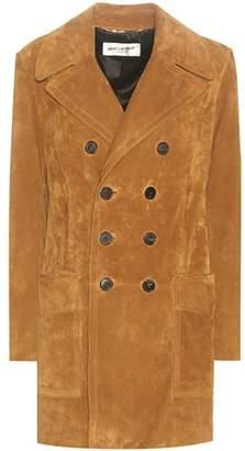 Saint Laurent Suede coat
