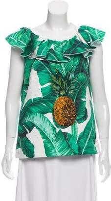 Dolce & Gabbana 2016 Banana Leaf Top w/ Tags