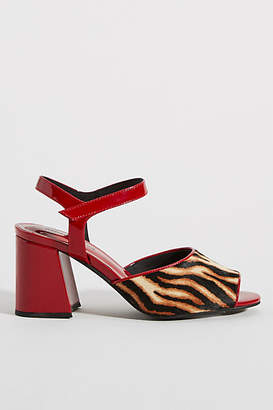 Jeffrey Campbell Animal Print Block-Heeled Sandals