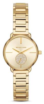 Michael Kors Gold-Tone Portia Link Bracelet Watch, 28mm
