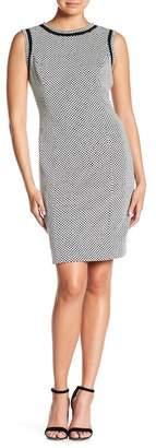 Kasper Colorblock Pattern Sleeveless Dress