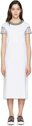 Kenzo White Logo T-Shirt Dress $215 thestylecure.com