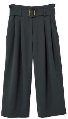 MANGO Buckle crop trousers