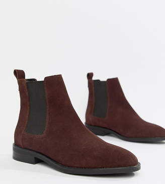 1dfe3942b83a Asos Design DESIGN Aura suede chelsea ankle boots