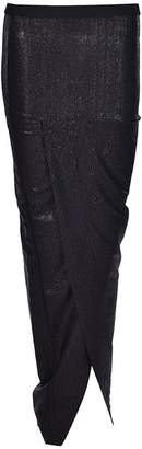 Rick Owens Lilies Wrap Front Long Skirt