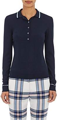 Tory Sport Women's Cashmere-Blend Polo Sweater - Tory Navy