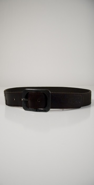 G Star G-Star Mens Canvas Belt with Genuine Leather in Brown at UrbanMInx.com