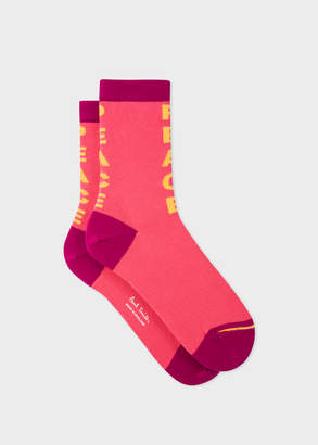 Paul Smith Women's Pink 'Peace' Socks