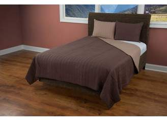 """Rizzy Home Rizzy home BT1409 CHOCOLATE 90""""x92"""" Cotton voile Quilt"""